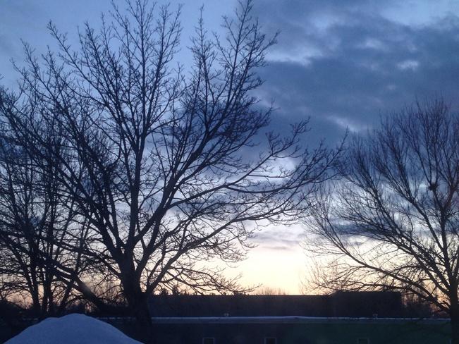 A beautiful sunset Fredericton, New Brunswick Canada