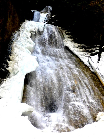Margaret Falls in March Tappen, British Columbia Canada