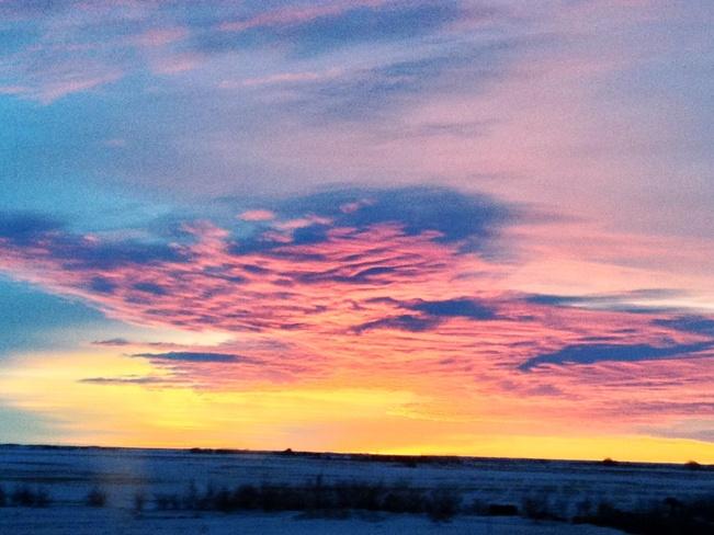 sunrise Hanna, Alberta Canada