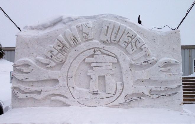 Snow Sculpture Labrador City, Newfoundland and Labrador Canada