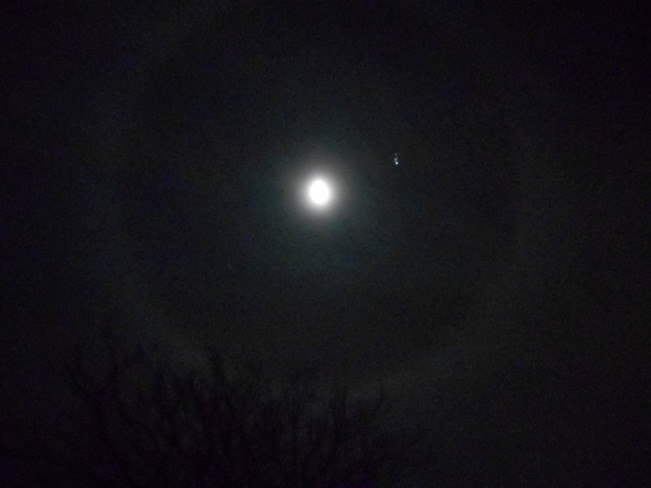 A ring around the moon