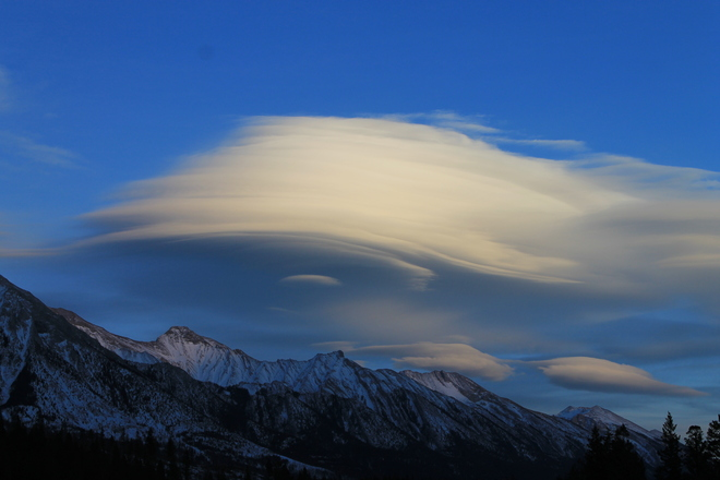 Layered Clouds Canmore, Alberta Canada