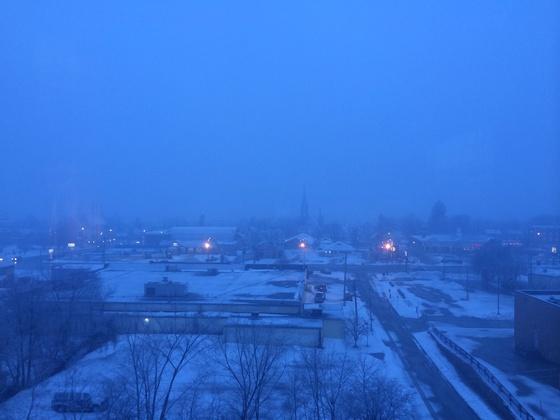 snow begins daybreak Rutland