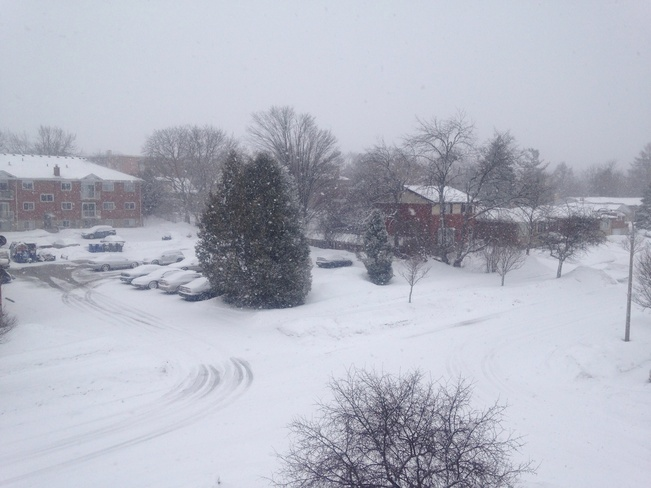 Snow in Stirling Ave/Highland Kitchener, Ontario Canada