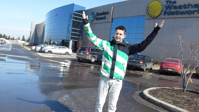 Colin Mercer At The Weather Network! Oakville, Ontario Canada
