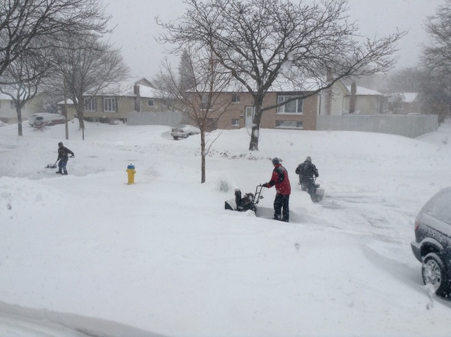 Digging out in Grimsby on Hamilton, Ontario Canada