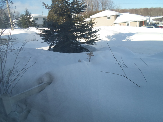 Snow in my Subdivision and Sun Elliot Lake, Ontario Canada