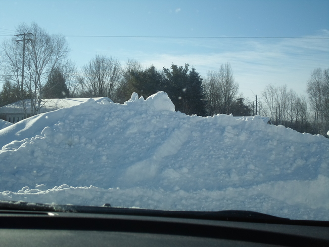 Yes we have snow, lot' of it Elliot Lake, Ontario Canada
