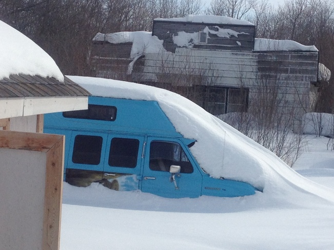 go away snow Camp Morton, Manitoba Canada