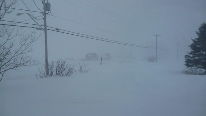 Winter Storm this morning Barachois, Quebec Canada