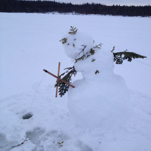 Snowman got the big trout on!! Harbour Grace, Newfoundland and Labrador Canada