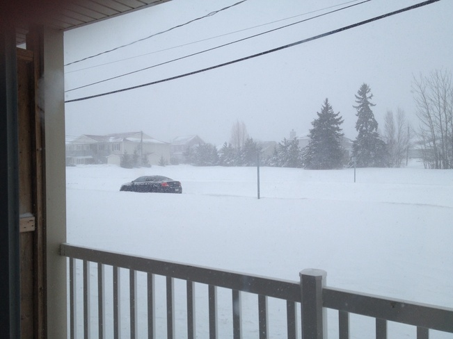 High winds with heavy snow. Moncton, New Brunswick Canada