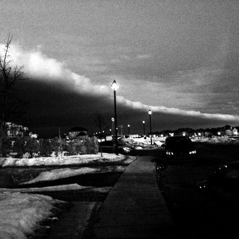 The March Snow Storm Looms Montréal, Quebec Canada