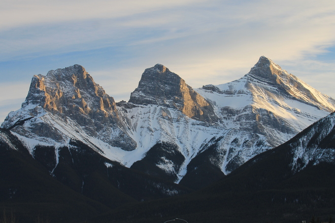 Beautiful Three Sisters Mountains Canmore, Alberta Canada