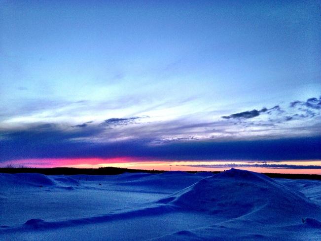 sunset Balmertown, Ontario Canada