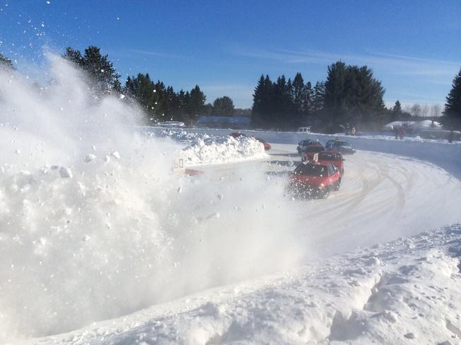 Race on ice Minden, Ontario Canada