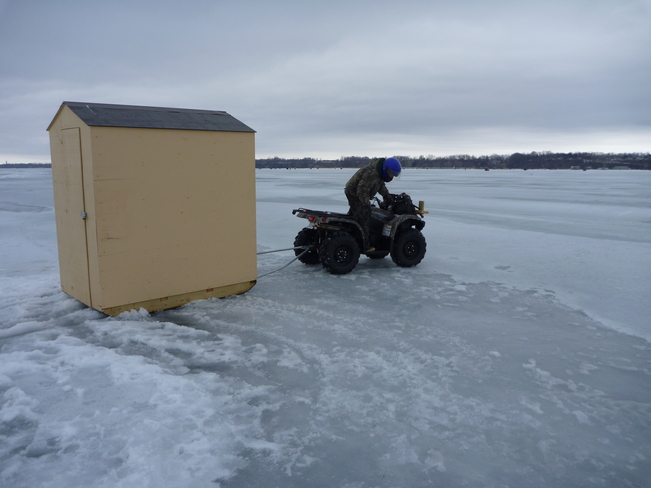 Last day of ice fishing St. Williams, Ontario Canada