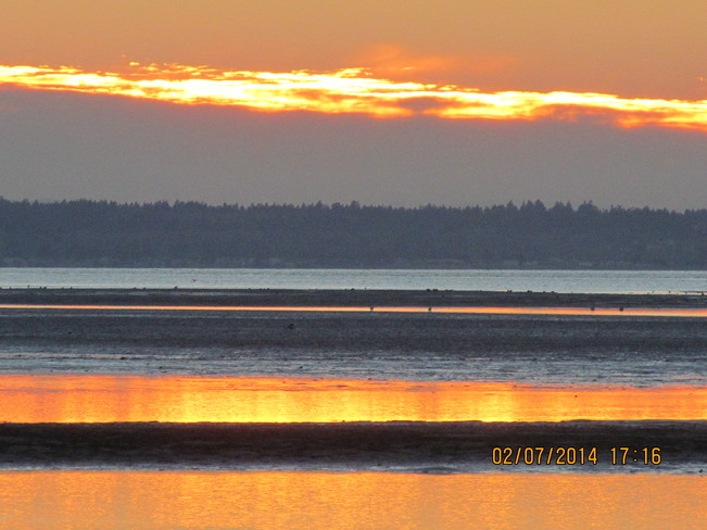 Evening Brilliance Crescent Beach, British Columbia Canada