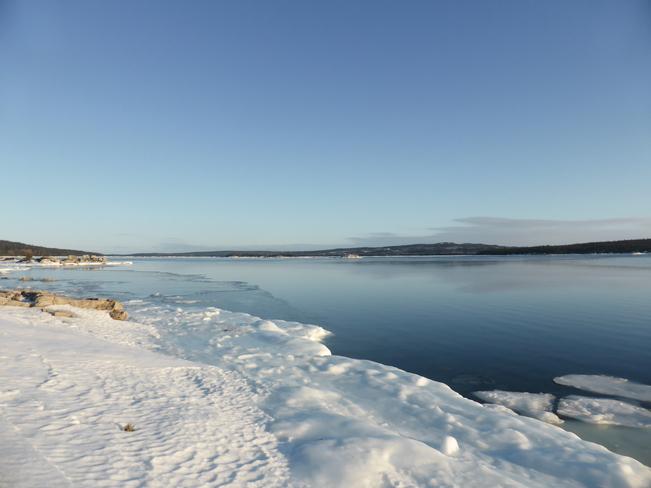 Calm Blue Birchy Bay, Newfoundland and Labrador Canada