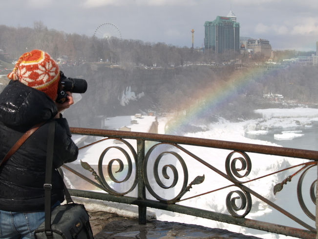 Rainbow from Canada to USA Niagara Falls, Ontario Canada