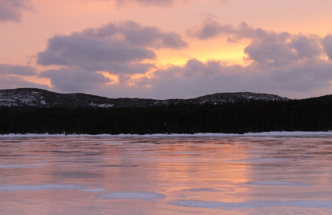 Evening Sunset on Duck Pond Bauline, Newfoundland and Labrador Canada
