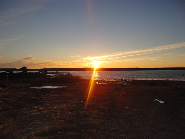 Sunset during Late Winter Sydney, Nova Scotia Canada