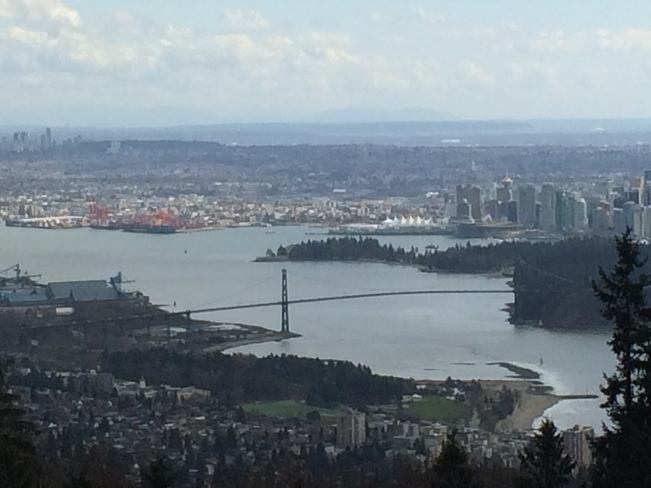 Looking over Vancouver,BC West Vancouver, British Columbia Canada