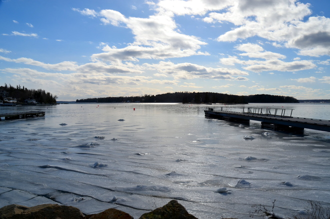 ICE AND CLOUDS AND SUN Chester, Nova Scotia Canada