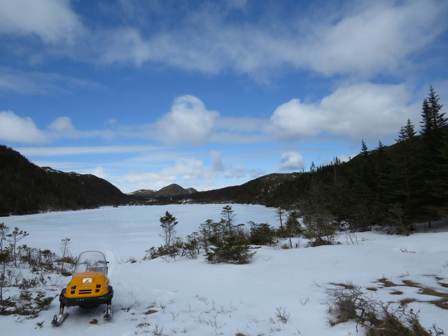 Some weather on Ski Doo Rock Harbour, Newfoundland and Labrador Canada