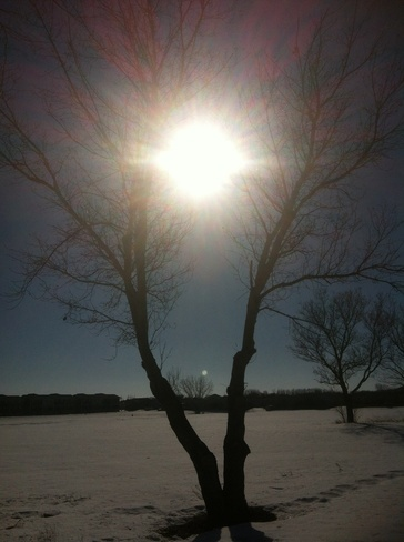 sun and moon :) ! Brandon, Manitoba Canada