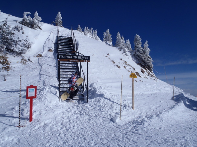 The Stairway to snowboarder's Heaven. Golden, British Columbia Canada