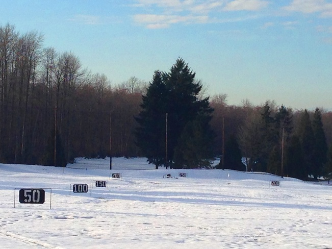 Icy Golf course Vancouver, British Columbia Canada