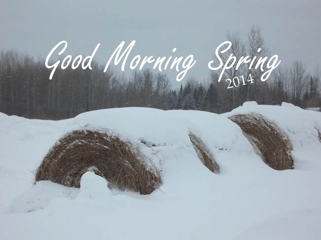 Timmins Ontario first day of SPRING! Timmins, Ontario Canada