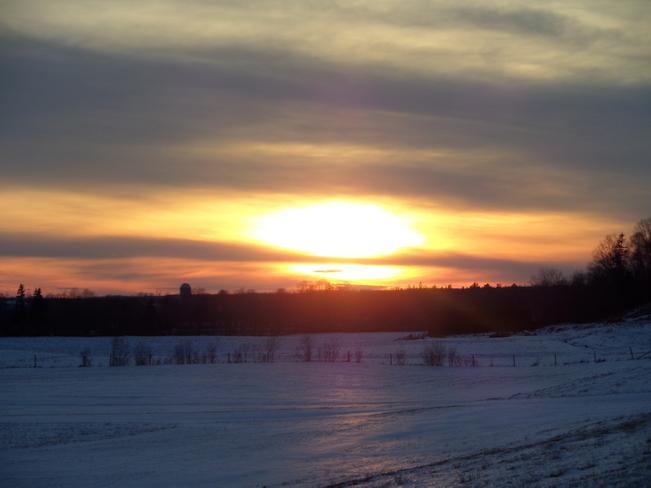 Sunset Upper Stewiacke, Nova Scotia Canada