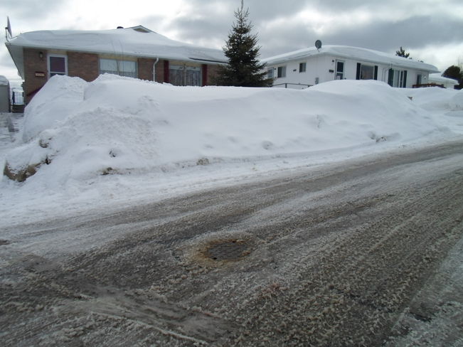 This much snow still,1 st day of Spring Elliot Lake, Ontario Canada