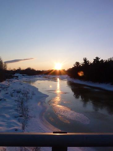 Beautiful Sunrise Fredericton Junction, New Brunswick Canada