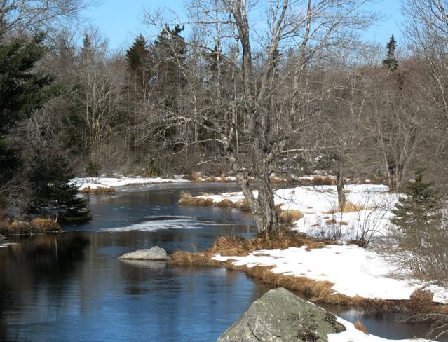 Salmontail River Windsor, Nova Scotia Canada