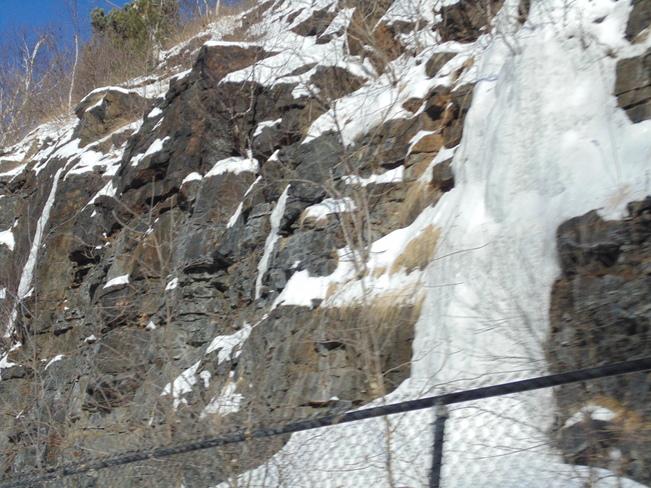 Ice fountain Mount Royal Montréal, Quebec Canada