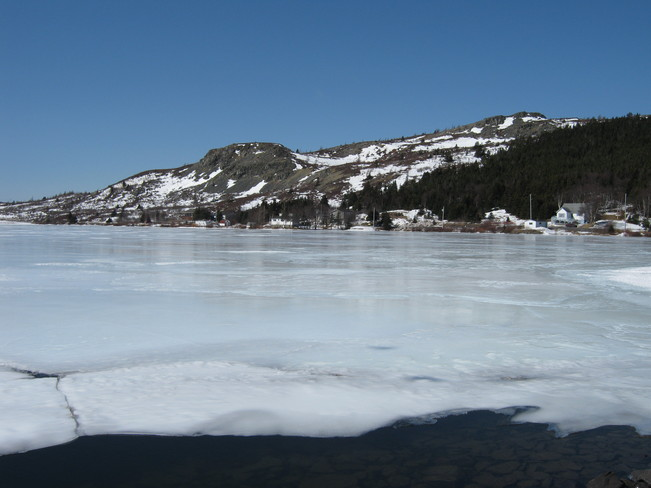 Ice on Northern Cove Pond