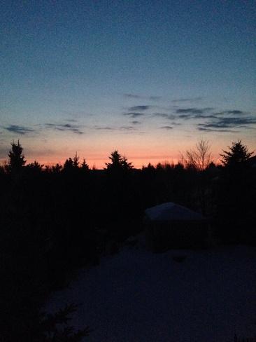 the sunrise Orangeville, Ontario Canada