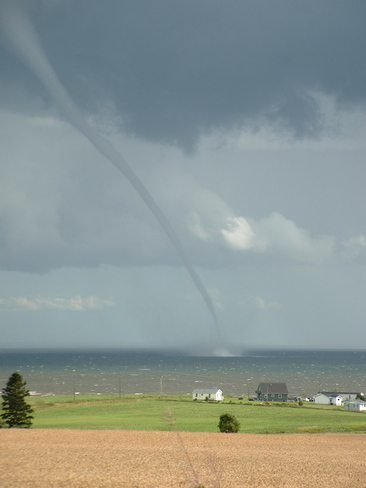 water spout over Northumberland Strait Charlottetown, Prince Edward Island Canada