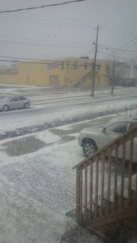 first hour of storm Dartmouth, Nova Scotia Canada