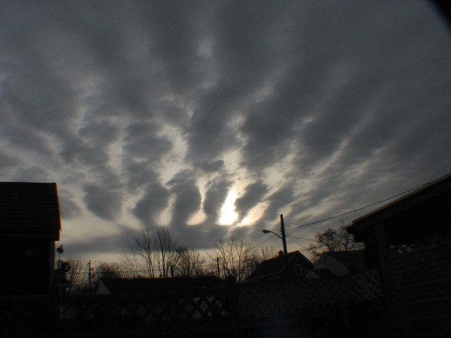 cloud formation at sunrise Chatham, Ontario Canada
