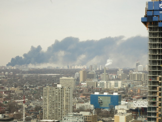 Fire in Downtown Toronto Toronto, Ontario Canada