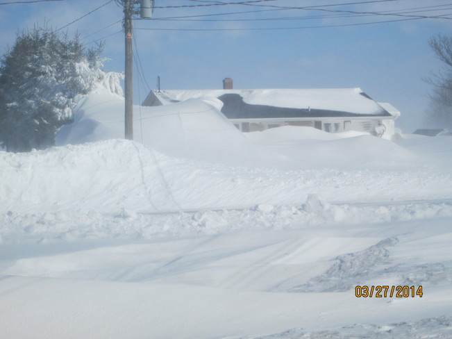 Aftermath of huge snowstorm Summerside, Prince Edward Island Canada