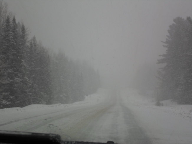 Again today more SNOW! Elliot Lake, Ontario Canada