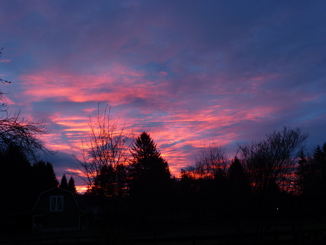 Red Sky in the Morning…….. Maple Ridge, British Columbia Canada