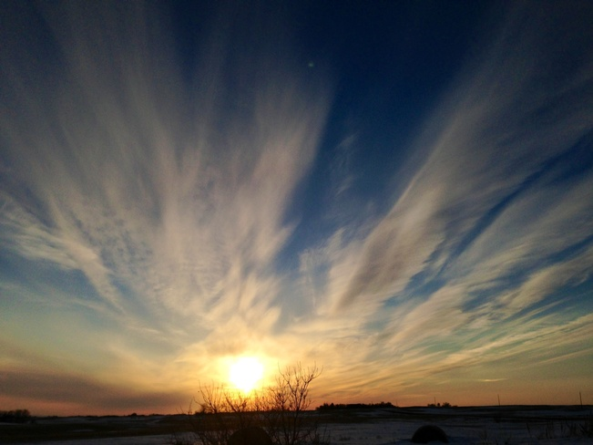 sunset Young, Saskatchewan Canada