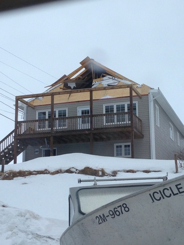damages from wind Norris Point, Newfoundland and Labrador Canada
