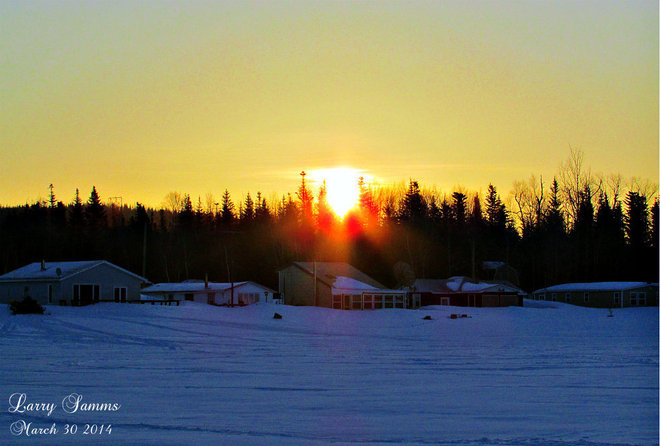 """Sunrise At The Pond"" Springdale, Newfoundland and Labrador Canada"
